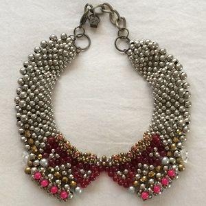 Pam Hiran Beaded Collar/Bib Statement Necklaces